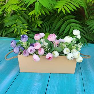 Деревянное кашпо для цветов, корзина для цветов, кашпо для флориста