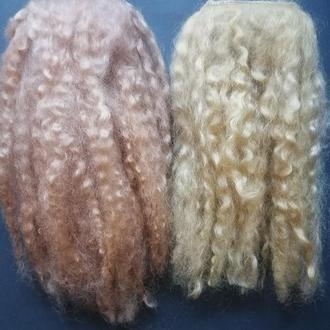 Трессы для кукол Волосы для кукол Козий пух Трессы для кукол натуральные