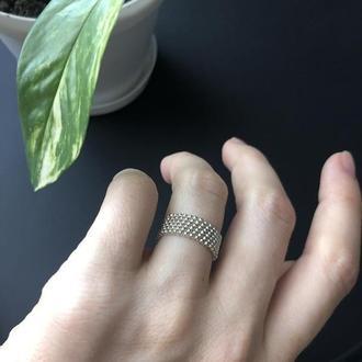 Кольцо из японского бисера
