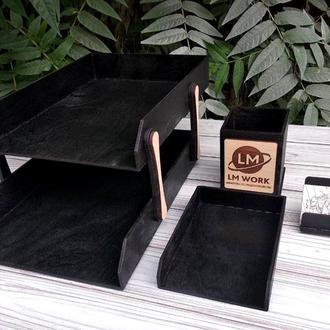 Деревянный набор для канцелярии, набор для канцелярских принадлежностей, подарок для коллектива