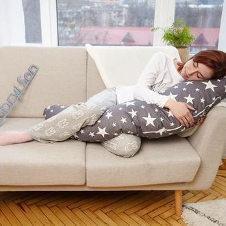 Подушка для беременных, U 120 см, крупный звездопад