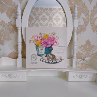 Картина на тему «Цветы»