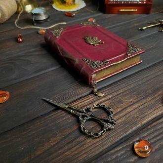 Кожаная записная книга. Блокнот с совой
