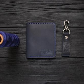 Мужской кожаный бумажник VOILE vl-mw3-blu