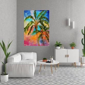 Картина абстракция Пальмы