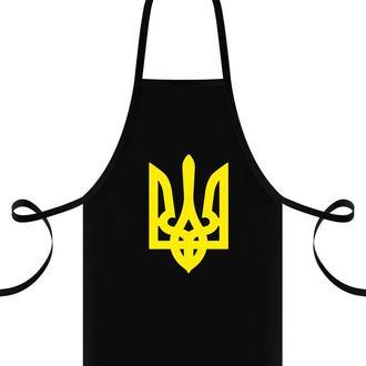 """ФА000020 Фартук с принтом """"Герб Украины (желтый)"""""""