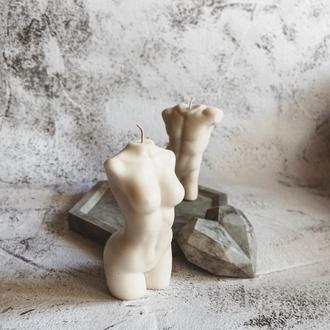 Соевые свечи. Мужской и женский торс. Тренд 2020года