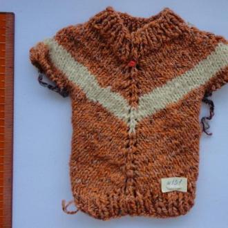 Вязаная одежда для куклы, кофточка, кофта, сувенир, элемент декора