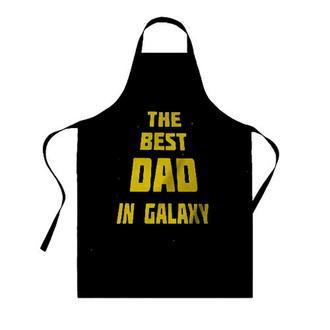 """ФА000097 Фартух з принтом """"The best DAD in galaxy"""""""