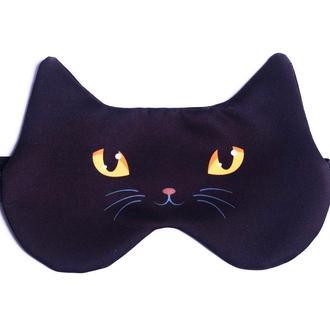 Маска для сна дизайнерская Silenta Черный кот