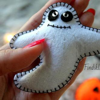 Фетровая игрушка приведение, призрак, хеллоуин halloween