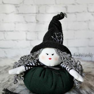Текстильная кукла Добрая Ведьмочка. Ведьма. Кукла колдунья. Кукла ведьма