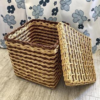 Корзина плетеная, коробка, органайзер