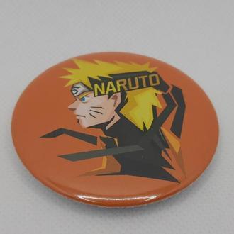 Круглый значек значок наруто аниме naruto