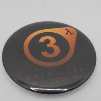 Круглый значек значок half-life 3 халф лайф 3