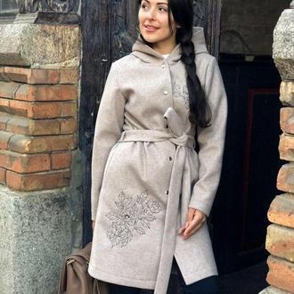Кашемировое демисезонное пальто