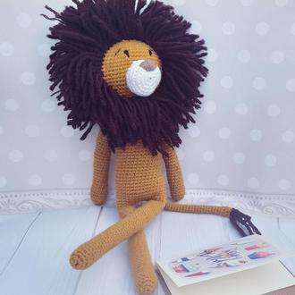 Игрушка лев Іграшка левеня  Подарок новорожденному Игрушка для фотосессии Львенок Симба Різдво