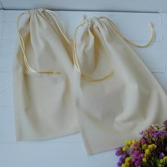 Хлопковый эко мешочек для покупок, еко торба, тканевой, многоразовый мешок zero weste