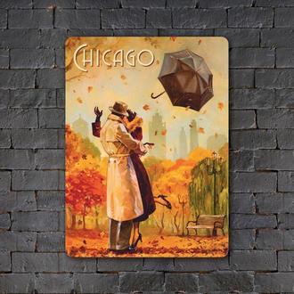 Постер (картина) табличка — CHICAGO