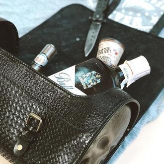 Байкерская кожаная сумка