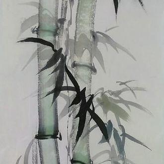 Картина китайская живопись бамбук