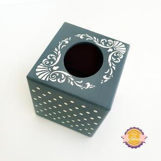 Салфетница-куб Изящная красота