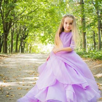 Платье лавандового цвета