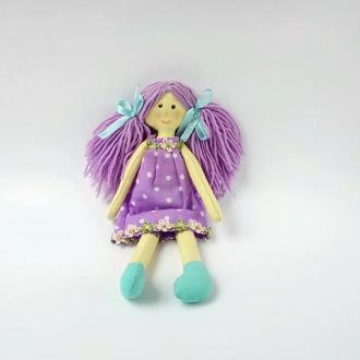 Кукла игровая сшита из хлопка