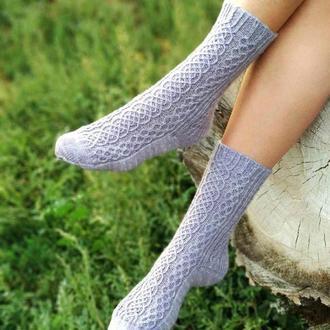 Вязаные носки из итальянской носочной пряжи