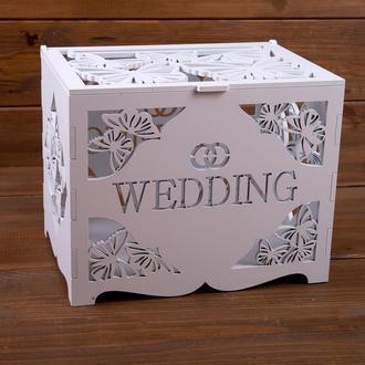 Свадебный деревянный сундук для денег (арт. WMB-603)