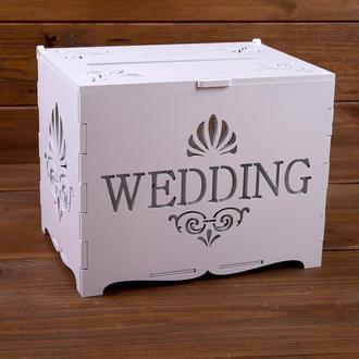 """Свадебный деревянный сундук """"Wedding"""" (арт. WMB-604)"""