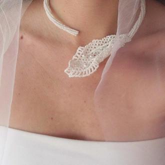 Свадебное колье для невесты  «Зимний сад»