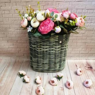 Корзина плетеная (дорбаскет, подвесная, для цветов)
