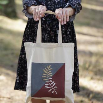 Сумка-шопер, хлопковая сумка, сумка для покупок, екосумка, ручний розпис сумок