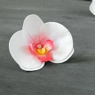 Шпильки для волос - Орхидея / Заколка с белой орхидеей для девушки