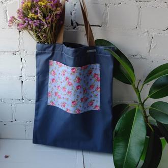 Эко сумка для покупок, эко пакет, серая сумка, еко торба, шоппер 52 (4)