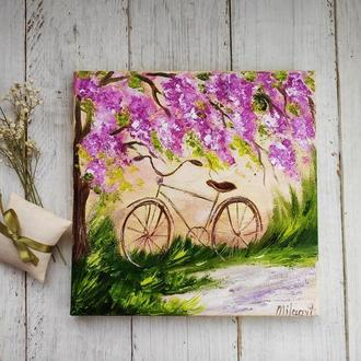 Картина Прованс велосипед