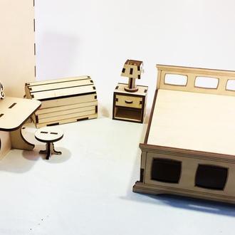 """Набор мебели для кукол """"Спальня"""" 6401"""