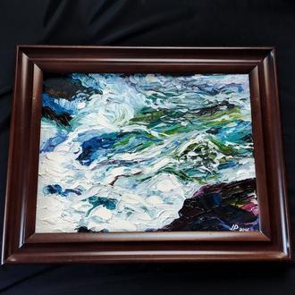 """Живопись. Пейзаж """"Голубое море"""""""