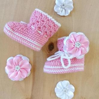 Пинетки сапожки для девочки