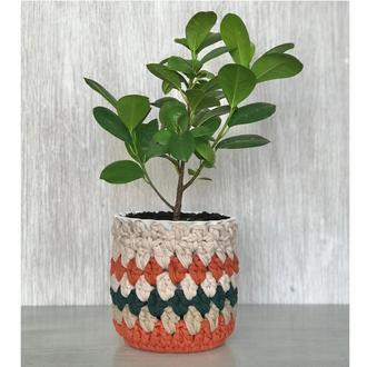 Кашпо для цветов Органайзер для вещей Подарок на праздник Корзинка Фотореквізит Стильный декор