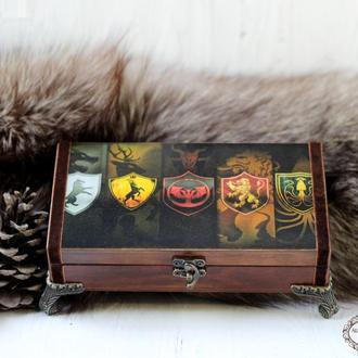Шкатулка Купюрница Игра Престолов Game of Thrones ,Баратеоны, Старки,Таргариены, Ланнистеры