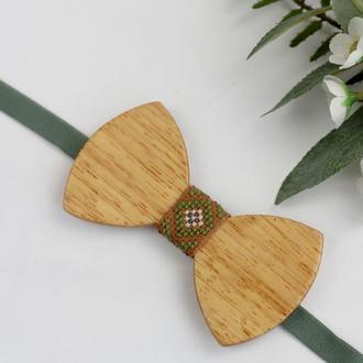 """Вышитая галстук-бабочка / Дерев""""яний метелик"""