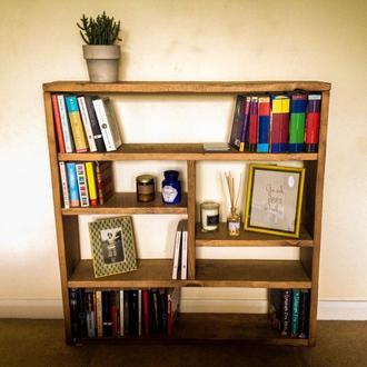 "Низкий книжный шкаф этажерка ""Ветер Шотландии"""