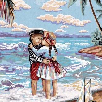 """Картина по номерам """"Дети и море"""""""