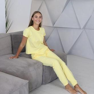 Качественная трикотажная пижама со штанами