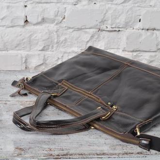 Модная и стильная мужская сумка из 100% натуральной кожи