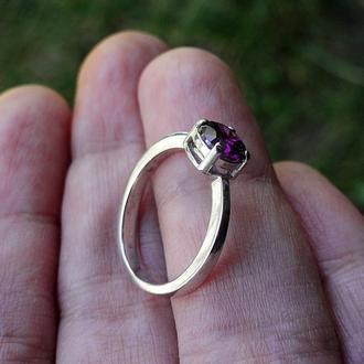 Кольцо AMETHYST (15,3) - серебро, циркон