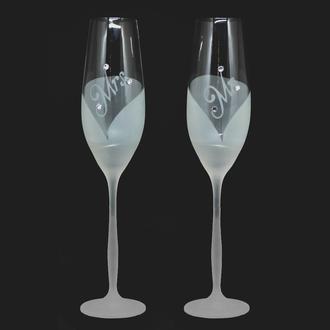 Келихи для шампанського MR MRS зі стразами Swarovski (арт. S23)
