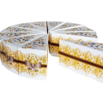 Бонбоньерки в форме торта (арт. B-94)